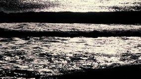 波浪细节在黑海,日出的 股票视频