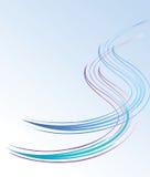 波浪背景的蓝线 免版税库存照片