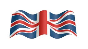 波浪英国的旗子, 3d动画 影视素材