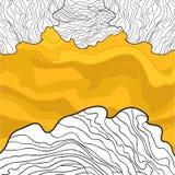 波浪蜂蜜和空白线路设计 库存图片