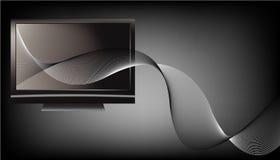波浪设计未来派的线路电视 向量例证