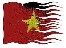 波浪越南的旗子和Grunged 皇族释放例证
