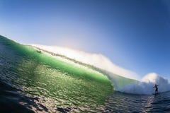 波浪颜色碰撞的冲浪者没有乘驾 免版税库存照片