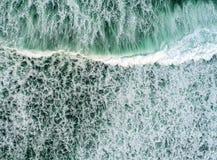 波浪从上面 免版税库存图片