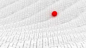 波浪阻拦红色球 图库摄影