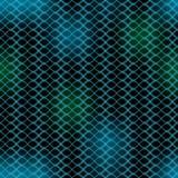波浪黑暗的抽象背景,绿色和蓝色在黑,模糊的光,无缝的样式挥动 库存图片