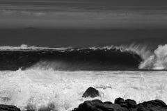 波浪滚磨 图库摄影