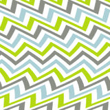波浪绿色灰色和蓝色雪佛样式 免版税库存图片