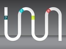 波浪infographic设计 库存图片