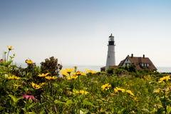 波特兰头灯塔,波特兰缅因,美国 免版税库存照片