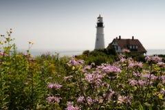 波特兰头灯塔,波特兰缅因,美国 免版税图库摄影