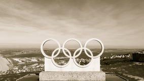 波特兰奥林匹克圆环,多西特乌贼属口气 免版税库存照片