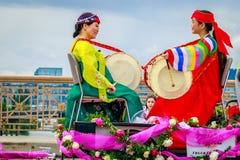 波特兰盛大花卉游行2017年 库存照片