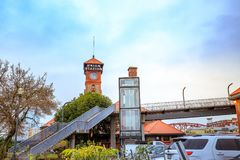 波特兰联合驻地是美国国家铁路公司火车站被找出的ne 库存图片