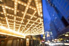 波特兰街市百老汇娱乐区在晚上 库存图片