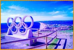 波特兰韦茅斯视图和Chesil海滩 库存照片