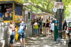 波特兰食物卡车 免版税图库摄影