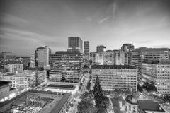 波特兰,俄勒冈- 2017年8月19日, :在美丽的su的城市地平线 免版税库存照片