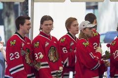 波特兰Winterhawks冰球队员 图库摄影