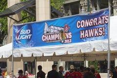 波特兰Winterhawks西部曲棍球联盟冠军2013年 免版税图库摄影