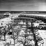 索波特都市风景视图 在黑白的艺术性的神色 库存图片