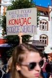 索波特,波兰, 2016 09 24 -抗议反对反对堕胎法律fo 库存照片