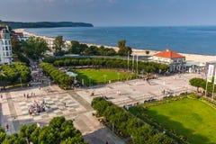 索波特,波兰9月7,2016 :索波特市的看法在波兰 免版税库存图片