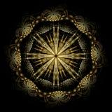 波状花纹的西班牙starburst 图库摄影