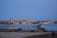 波瓦-迪瓦尔津,葡萄牙,第二天是道路通往孔波斯特拉的圣地牙哥 库存图片