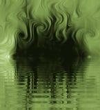 波纹丝绸烟漩涡 向量例证