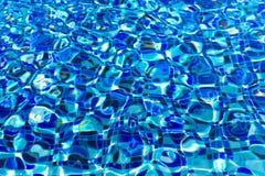 波纹和流程有波浪游泳场底下背景 库存照片