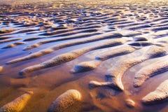 波纹沙子 库存照片