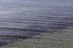 波纹状的湖水表面,关闭 免版税库存照片