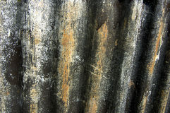 波纹状的脏的铁 免版税库存照片