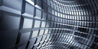 波纹状的轻的金属反射的页 免版税库存照片