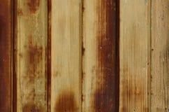 波纹状的金属墙壁 免版税库存照片