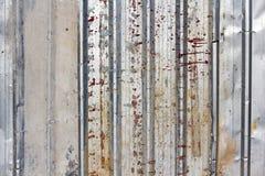 波纹状的金属墙壁 免版税图库摄影