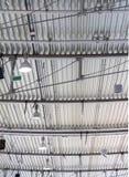 波纹状的金属屋顶细节 免版税库存图片
