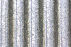 波纹状的金属板范围 库存照片
