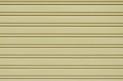 波纹状的金属板幻灯片门 免版税库存图片