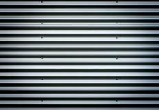 波纹状的金属板 银灰色与好的渐晕的背景样式 免版税库存图片