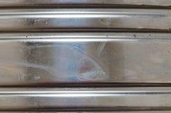 波纹状的金属 免版税库存图片