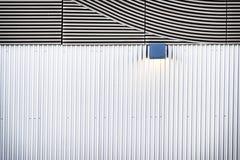 波纹状的钢 库存图片