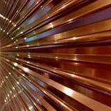 波纹状的铜金属装饰 库存照片