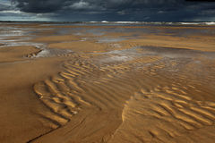 波纹, Balmedie海滩 库存图片