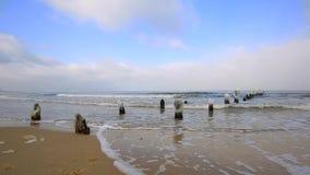 波罗的海冷漠的风景在波兰 影视素材