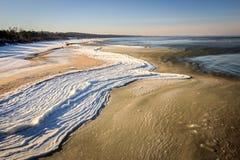 波罗的海在冬天 免版税图库摄影