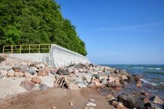 波罗的海岸在Rozewie 免版税库存图片
