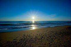 波罗的海日落 图库摄影