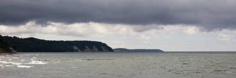 波罗的海是在风暴前 库存图片